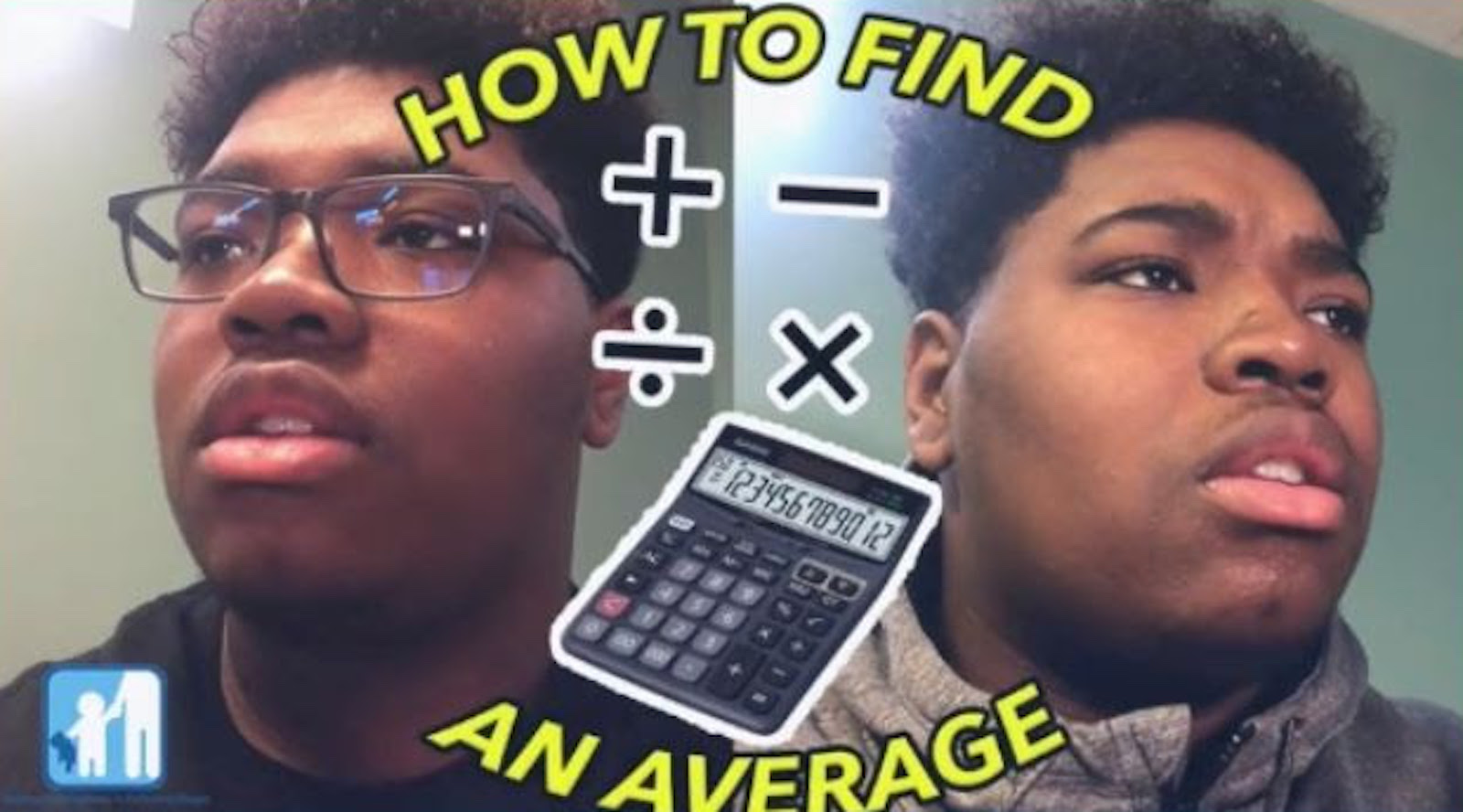 A student looks off in the distance with a confused face with the words How To Find An Average on the screen.